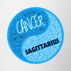 Cancer and Sagittarius Zodiac Sign Man Love Mug - Contrasting Mug
