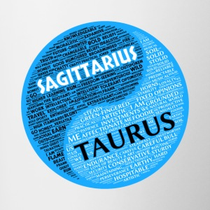 Sagittarius and Taurus Zodiac Sign Man Love Mug - Contrasting Mug