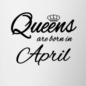Queens Born april Verjaardag Princess - Mok tweekleurig