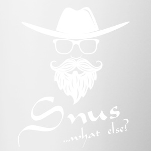 Snus - what else ...? - Tasse zweifarbig