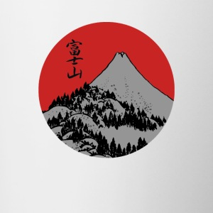 Red Dawn Fuji - Tasse zweifarbig