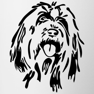 Bearded Collie - Tasse zweifarbig