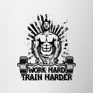 Work Hard / Train Harder - Contrasting Mug