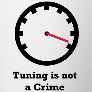 Tuning is not a Crime - Tasse zweifarbig