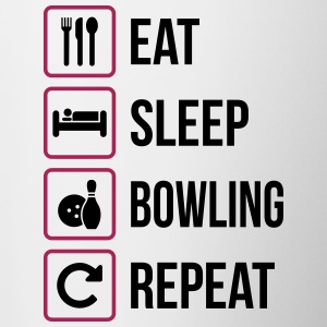 Eat Sleep Bowling Repeat - Contrasting Mug