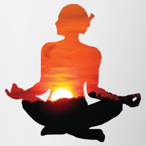 Yoga / Meditation / BUDDHA / INDIA - Tofarvet krus