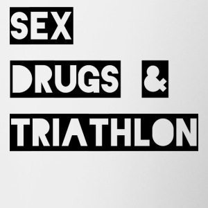 Sex Drugs & Triathlon - Tasse zweifarbig