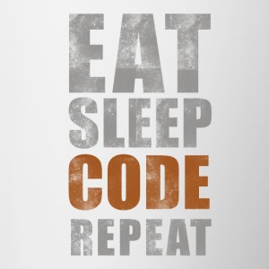 Eat Sleep CODE GJENTA - Tofarget kopp