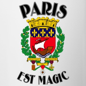 Paris Is Magic Weiß - Tasse zweifarbig