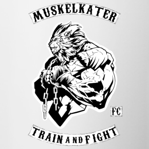Muskelkater Fight Club - Train And Fight - Tasse zweifarbig
