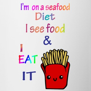 I'm on a sea food diet. - Contrasting Mug