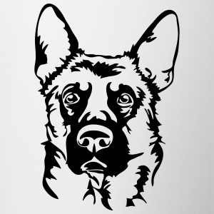 GERMAN SHEPHERD PORTRAIT - Contrasting Mug