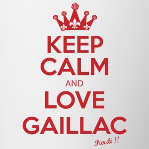 KEEP CALM and LOVE GAILLAC R01 - Contrasting Mug
