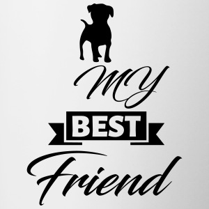 dog best friend - Tasse bicolore