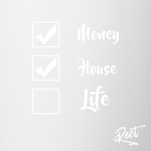 (BUT) MONEY HOUSE AND LIFE - Contrasting Mug