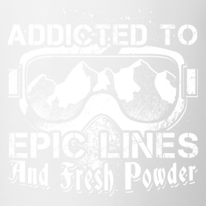Addicted to skiing - Contrasting Mug
