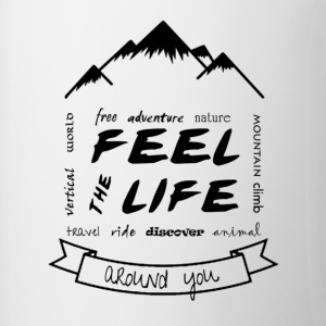 Feel the Life around you - Black - Contrasting Mug