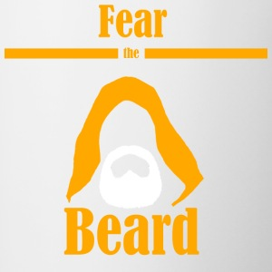 Fear the beard  jedi yedi beard hood - Contrasting Mug