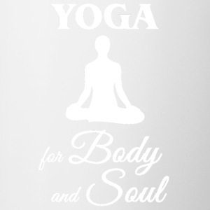 Yoga-for Body and Soul - Tasse zweifarbig