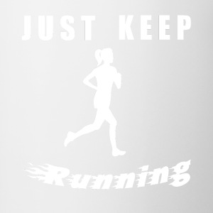 JUST KEEP RUNNING - Contrasting Mug