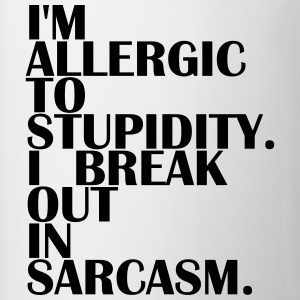 Allergic to Stupidity - Allergic to Stupidity - Contrasting Mug