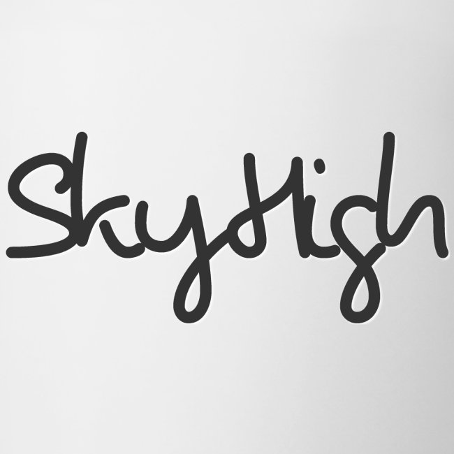 SkyHigh - Men's Premium Hoodie - Black Lettering