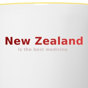 New Zealand is the best medicine - Tasse zweifarbig