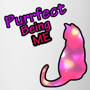 Purrfect Being me - Mok tweekleurig