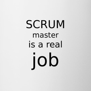 Scrum master is a real job - Contrasting Mug