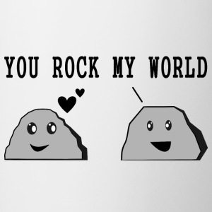 "Diseño ""You Rock My World"" - Taza en dos colores"