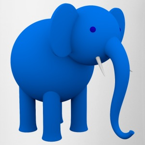 blue Elephant - Mok tweekleurig