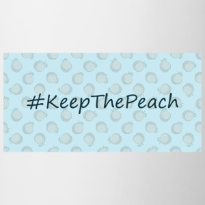 Hashtag Keep The Peach - Kubek dwukolorowy