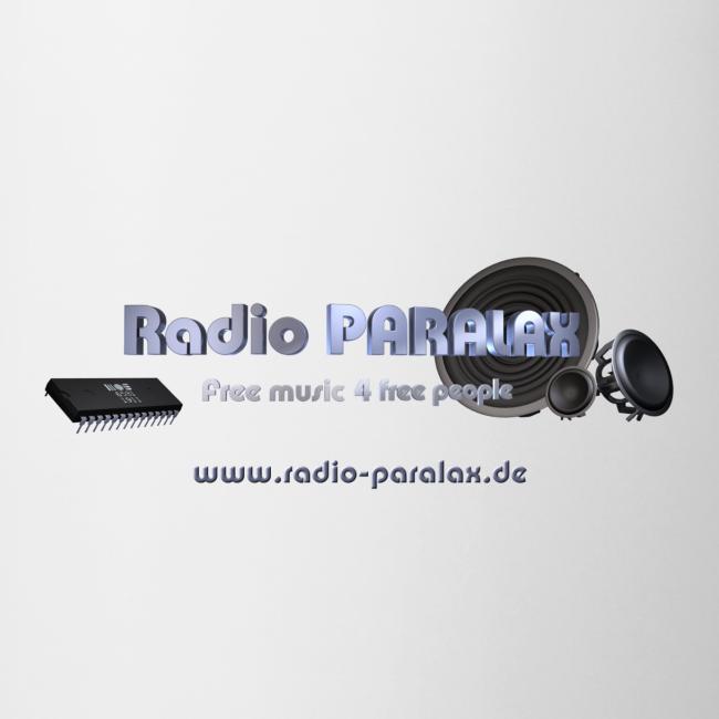 Radio PARALAX Facebook-Logo mit Webadresse