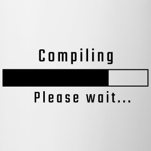 Compiling - please wait - Kubek dwukolorowy