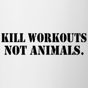 KILL WORKOUT NOT ANIMALS - Contrasting Mug