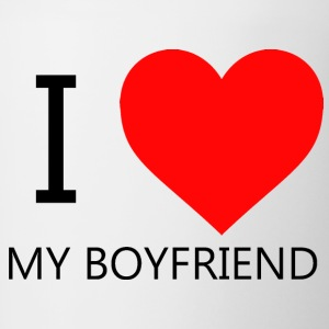 I LOVE MY BOYFRIEND T-SHIRT - Mok tweekleurig