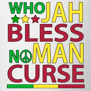 Qui Jah Bless No Man Malédiction - Tasse bicolore