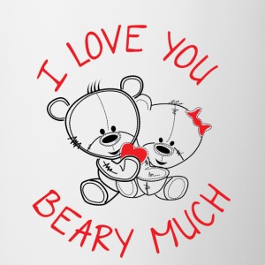 I love you beary much - Tasse zweifarbig