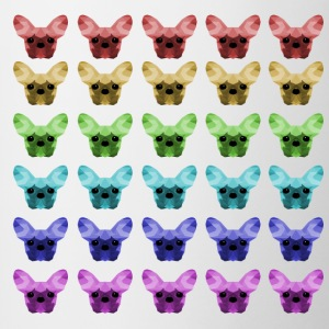French Bulldog Low Poly design - Tazze bicolor