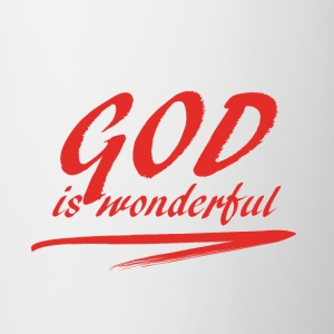 God_is_wonderful - Tvåfärgad mugg