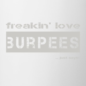 love burpees - bright T-shirt - Contrasting Mug