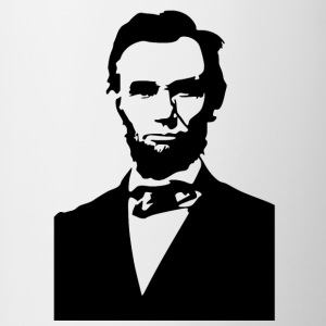 abraham lincoln pochoir - Tasse bicolore