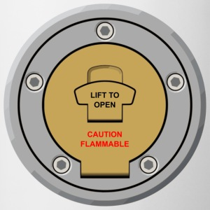"Motorcycle Fuel Cap Design ""Lift to Open"" - Contrasting Mug"