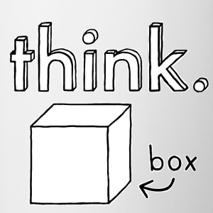 Think Outside the Box Illustration - Tasse bicolore