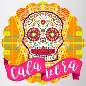 Mexican Sugar Skull of the Day of the Dead - Contrasting Mug