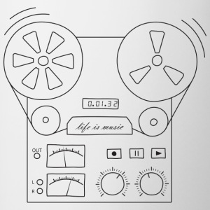 magnetic tape recorder - Contrasting Mug