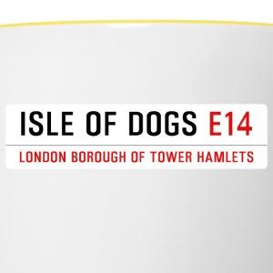 Isle of Dogs Street Sign - Contrasting Mug