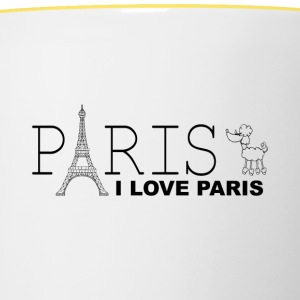 I love Paris - Tazze bicolor