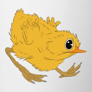 chiken Angry - illustration vectorielle - Tasse bicolore