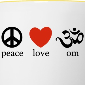 Peace Love Yoga - Contrasting Mug
